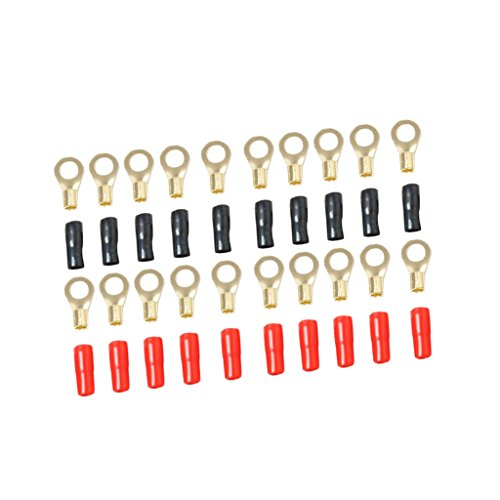 Dolity 8-AWG 5.3mm Kabelanschluss-Steckverbinder-Sortiment Kit für alle Fahrzeuge / 8-Gauge-Anschlussklemme 8 Gauge Power Kit