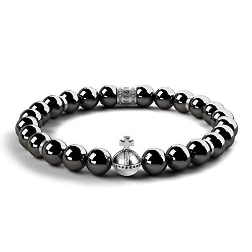 Stone & May  -  925 Sterling-Silber  Sterling-Silber 925 Rundschliff   schwarz Onyx
