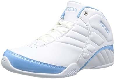 AND1 ROCKET 3.0 MID D1051MWWL, Unisex-Erwachsene Basketballschuhe, Weiß (white/white/carolina), EU 47
