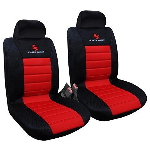 WOLTU AS7257-2 Housse de siège voiture universelle Auto housse polyester housses pour siège,couvre siège Noir Rouge