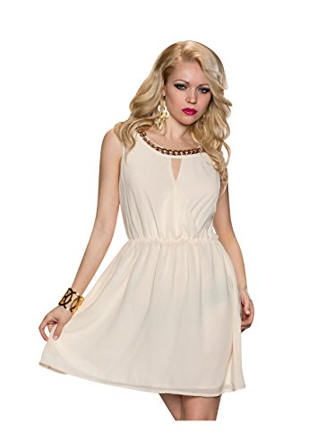 best-emilie-vestito-plissettato-donna-crema-m