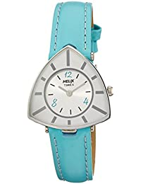 Helix Triangle Analog White Dial Women's Watch - TI015HL0400