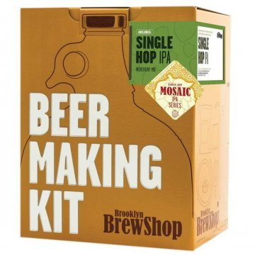 Brooklyn Brew Shop Mosaic Single Hop IPA Beer Making Kit (1 US gallon/3.8L)