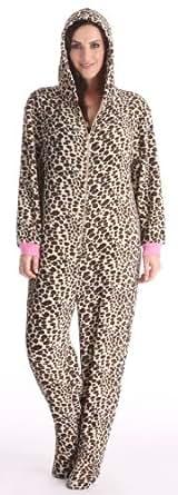 womens onesie (10 /14, leopard)
