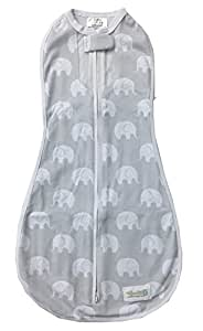 Woombie Air Baby Cocoon Swaddle (0 to 3 Months, Grey, Misty Jungle)