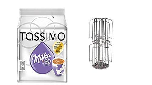 TASSIMO T-Disc Milka Schokolade + dem neuen Kaffee-Kapselhalter für Tassimo 48 Disc mit Milchschacht für grosse Kapseln von James Premium®