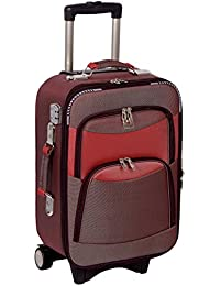 "Trolley Bag Polyester Matty 20"" Inch Double Shell Expandable Cabin Bag"