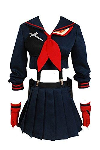 Jeylu Kill La Kill Kawaji Matoi (Standarte) Cosplay Kostüm Gr. Medium, schwarz