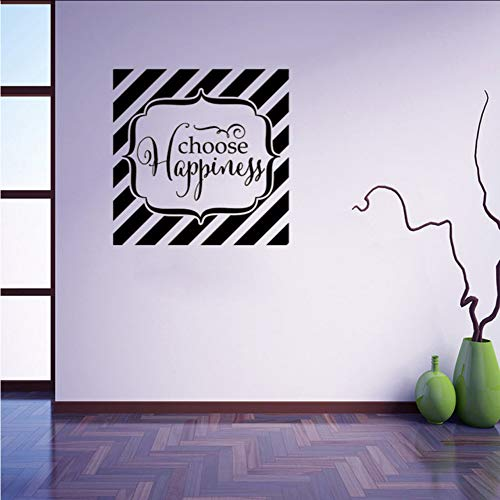 Myvovo Choose Happiness Vinyl Wall Sticker Decal Art Delicate Fun Home  Unique Home Deco Inspire Motivate Wall Decals Vinyl Decal 57 * 57Cm