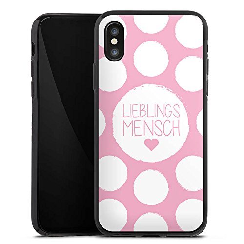 Apple iPhone X Silikon Hülle Case Schutzhülle Liebe Lieblingsmensch Sprüche Silikon Case schwarz