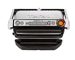 Tefal OptiGrill + GC712D Grill Tabletop Electric 2000W Titanium - Barbecues & Grills (2000 W, Grill, Electric, 600 cm², Tabletop, Titanium)