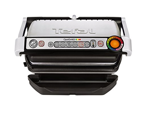 Tefal OptiGrill + GC712D Grill Electric - barbecues & grills (Tabletop, Titanium,...