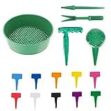 Seaperich Garten-Sieb/Garten-Sieb/Garten-Sieb/Sämling-Werkzeuge, 15 Stück