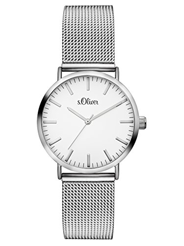 S.Oliver Damen Analog Quarz Armbanduhr SO-3270-MQ