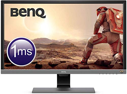 BenQ EL2870U - Monitor Gaming de 28' 4K UHD (3840x2160, 16:9, 1ms, HDR, HDMI 2.0x2, DisplayPort 1.4, Free-Sync, Eye-Care, Sensor Brillo Inteligente Plus, Flicker-free, Altavoces), Gris Metálico