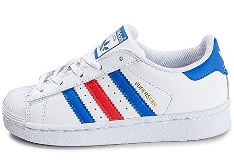 adidas Superstar Enfant Bleu Blanc Rouge Blanc 31