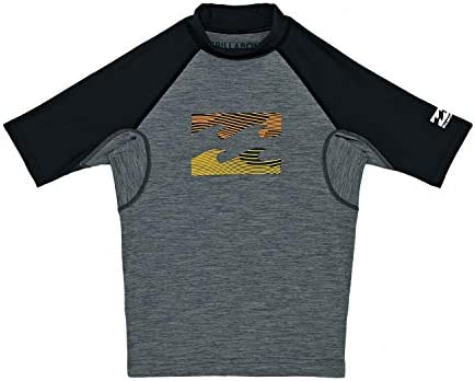 BILLABONG Junior Boys Team Team Team Wave Short Sleeve Rash Vest grigio Heather N4KY08 Age - 10YB07LC1KBB7Parent | Prezzo ottimale
