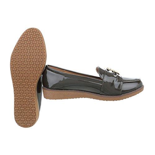 Pantofola Slitta Ital-design Mocassino Pantofola Cachi W-3-1