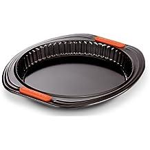 Le Creuset - Molde tarta con base extraíble de acero al carbono antiadherente, 26 cm, color negro