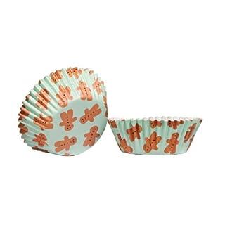Lebkuchen Panpepato 60 Stücke Medium Cupcake Förmchen aus fettdichtem Papier & ansprechender Optik