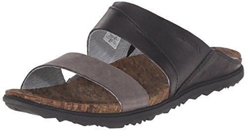 Merrell AROUND TOWN SLIDE Damen Offene Sandalen Schwarz (Black)