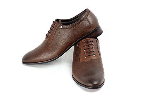 Scarpe Da Uomo Moda In Pelle Italiana Look Stile Oxford misura UK 6 7 8 9 10 11 Marrone