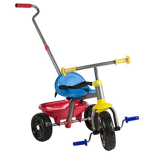 ColorBaby Triciclo con mango extensible - multicolor (43449)