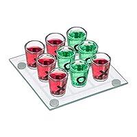 Relaxdays-Tic-Tac-Toe-Trinkspiel-fr-Erwachsene-2-Personen-9-Schnapsglser-JGA-lustiges-Partyspiel-transparent