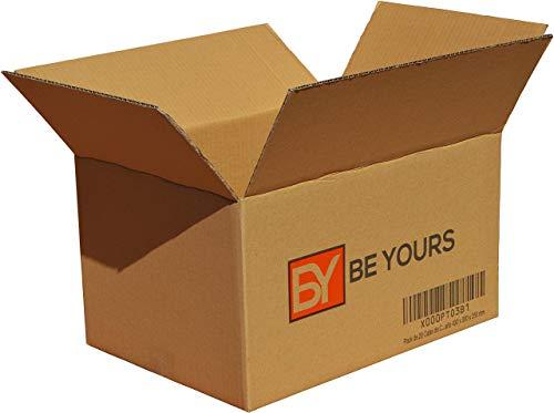Pack da 20 Scatole di Cartone - 430 x 300 x 250 mm - DISPONIBILE IN VARIE MISURE - Fabbricate in Europa - Scatole per Trasloco Molto Resistenti