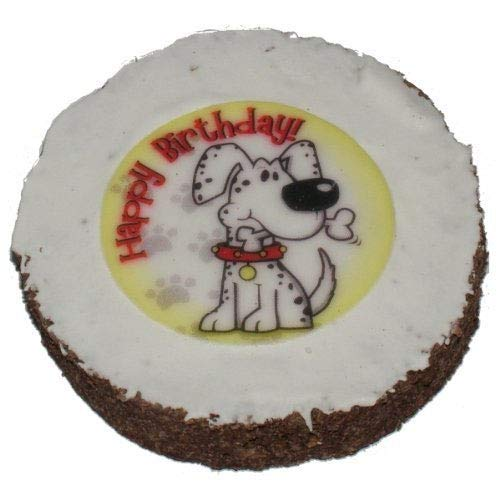 Hatchwells 1258/3239 Hund Geburtstagskuchen Hund Geschenk, behandeln 4in Durchmesser x 3/4in Dickes