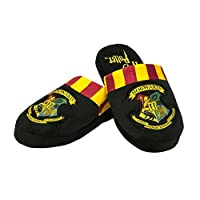 Harry Potter Hogwarts Unisex Mens Adults Boys Girls Mule Slip on Slippers, Black, UK Size: 5-7