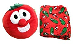Zoobies Veggie Tales Bob The Tomato Plush Toy, Soft Pillow and Cozy Blanket
