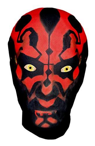 Ganzkopfmaske im Darth Maul-Stil, Star Wars-Parodie für Halloween, Kostüm, Cosplay
