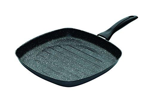 Jata Hogar GEA28 Tambora Grill, Acero, Negro, 28 cm