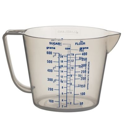 Lakeland Value Clear Plastic Kitchen Measuring Jug & Handle (Holds