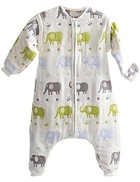 DaiShuGuaiGuai Baby Ganzjahres Schlafsack mit Füßen (Mehrfarbig) (Elefant)