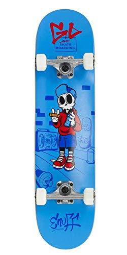 "Enuff Skateboards Skully Complete Mini Skateboard Unisex Erwachsene, Unisex-Erwachsene, ENU2150, Blau (blau), 7.75\"""