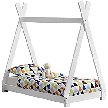 moderne Toddler barreirs Girafe Lit Junior en bois 140x70 style scandinave