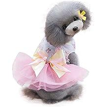 Perros Ropa, Zolimx Adorable Perro Vestido Ropa Cachorro Rejilla Falda Ropa para Pequeñas Mascotas Medianas