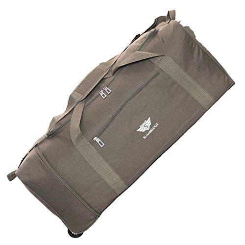Slimbridge Havant grand 80cm sac pliable à roulettes, Taupe