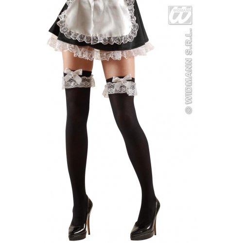 Maid Erwachsene Sexy Kostüm Für - WIDMANN XL-Kostüm, Oberschenkelhöhe, 70 Denen, Größe XL, für Kanister