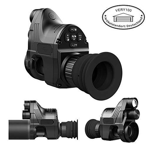 PARD NV007 Nachtsichtoptik Ferngläser Jagd Digital-Nachtsicht-Sichtgerät Nachtsicht Night Vision 1080P 4X~14x Zoom 200m Reichweite NV-Bereich 850nm IR für Gewehr WiFi Andiord/iOS APP mit 45mm Adapter