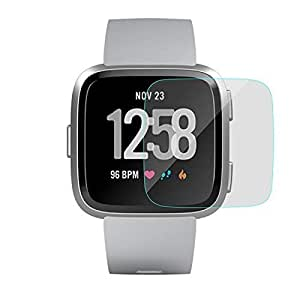 Cellshell 0.3mm Pro+ Tempered Glass Screen Protector with Packaging Kit for Fitbit Versa