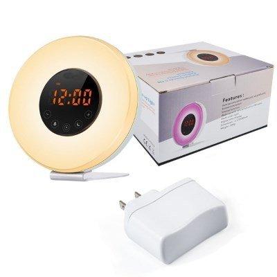 YLAXX Despertador Analógico,Despertador Silencioso,Despertador Despertador Radio Amanecer Y Atardecer Reloj Radio Despertador...