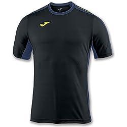 Joma Granada Camisetas Equip. M/C, Hombre, Negro