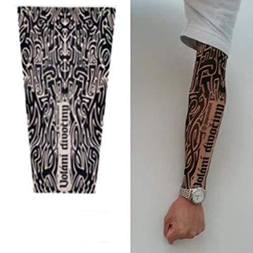 Xingsiyue manicotto realistico tattoo finti tatuaggi - elastiche ventilazione tattoo arm sleeve uomo donna