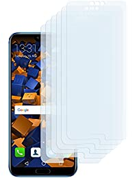 6 x mumbi Displayschutzfolie für Huawei Honor 10 Folie Schutzfolie (bewusst kleiner als das Display, da dieses gewölbt ist)
