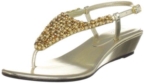 Unze Evening Sandals, Sandali donna Oro (Gold (L18371W))