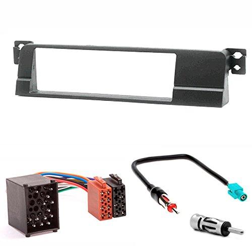CARAV 11–011–3della mascherina autoradio 67DIN DIN In dash Installation Kit Set For BMW SERIE 3(E46) 1998–2005+ ISO and Antenna Adapter Cable