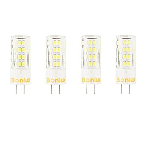 Bonlux 4-Pack 5W Dimmable G5.3 LED Bulb Cool White 6000K